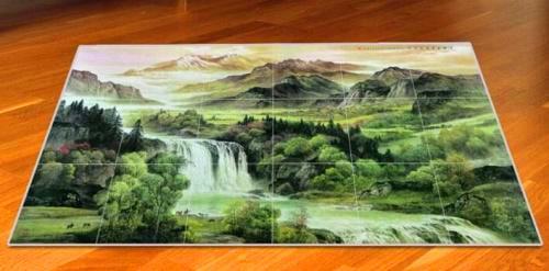 UV平板打印作品瓷砖